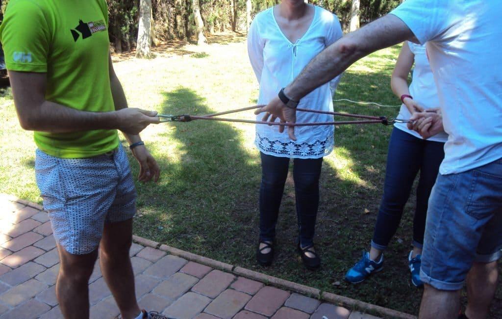 Sesión de formación experiencial con los alumnos del CEU