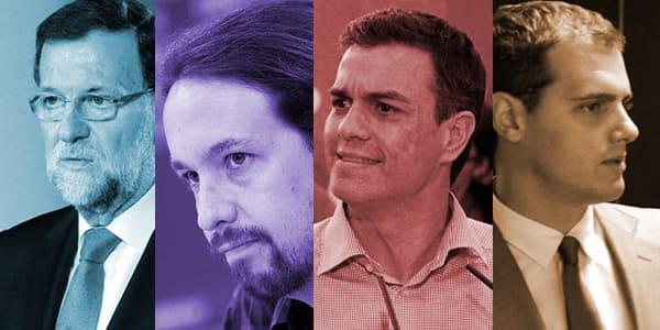 Rajoy, Iglesias, Sánchez, Rivera