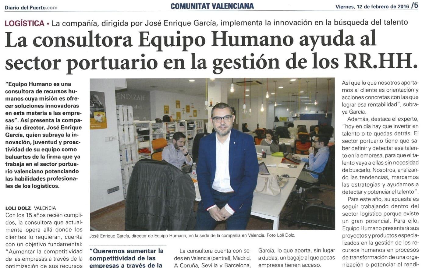 Equipo Humano en El Diario del Puerto