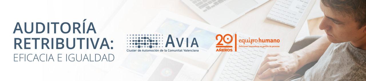 Banner auditoría retributiva con AVIA