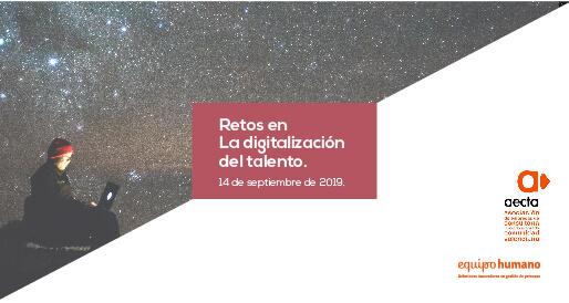 Retos en la digitalización del talento AECTA.</br>12 Septiembre